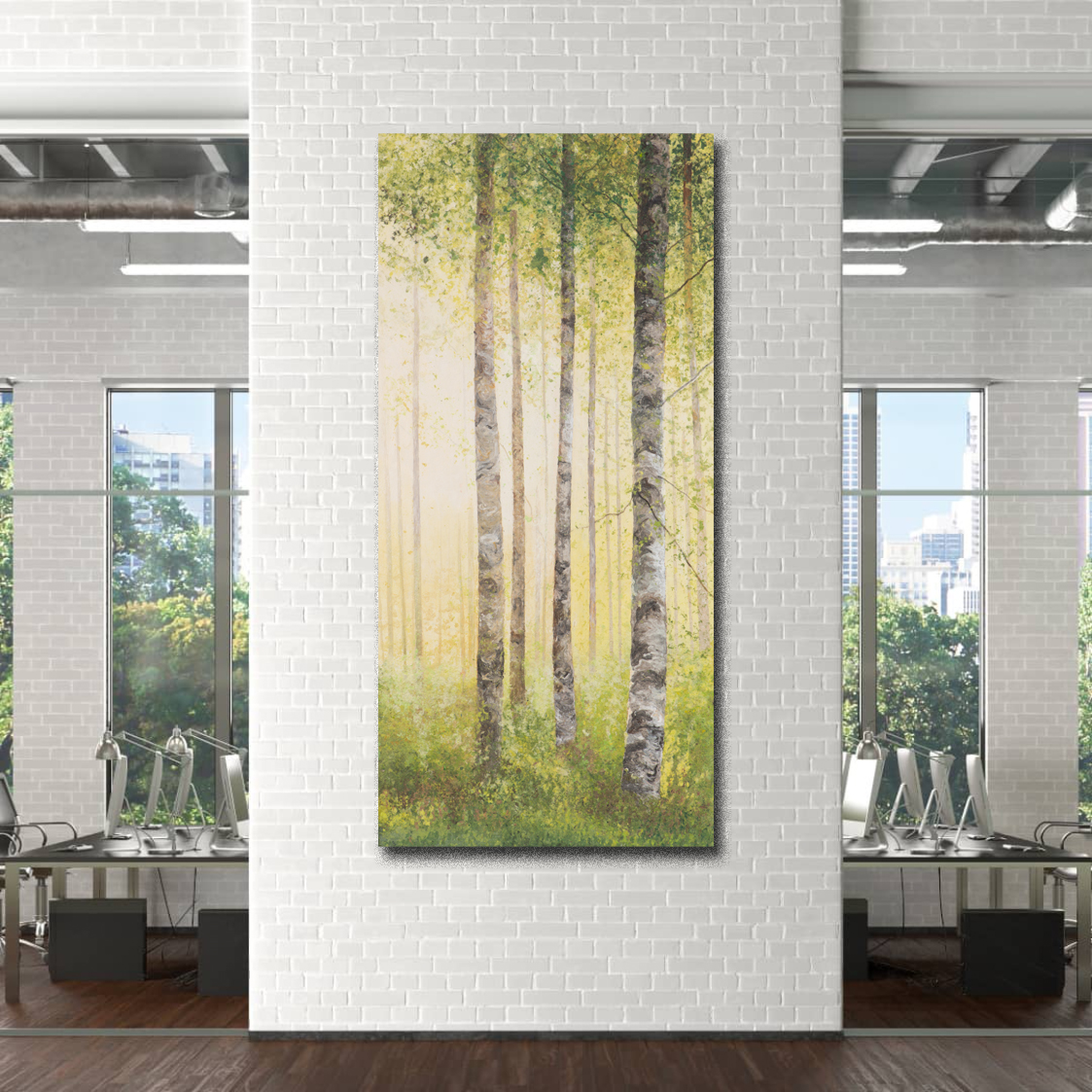 The benefits of adding nature-based artwork to the office environment.