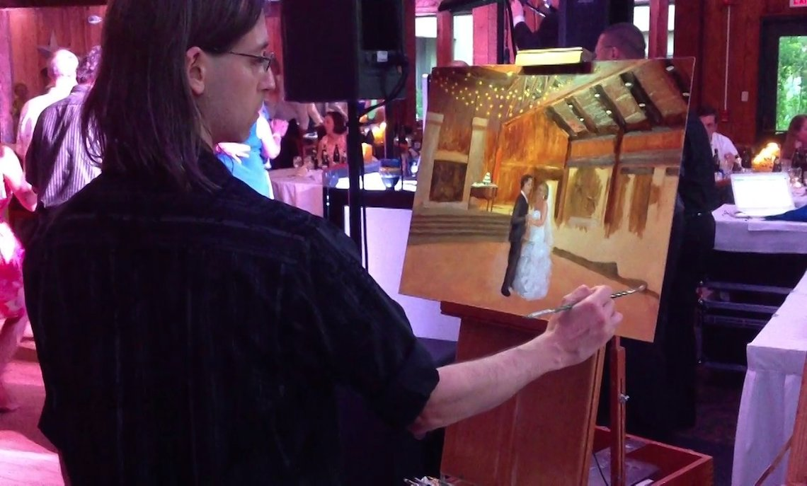 #HipNJWeddings: Live Event Painting, A Wedding Must-Have