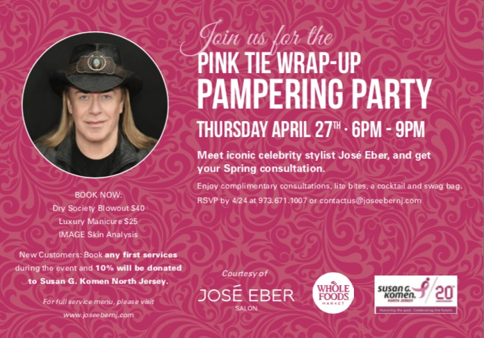 ICONIC CELEBRITY STYLIST, JOSÉ EBER, COMES TO NEW JERSEY!