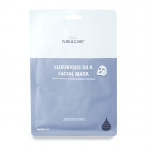 face mask, silk face mask, pure and care, pure & care, skincare, hip list