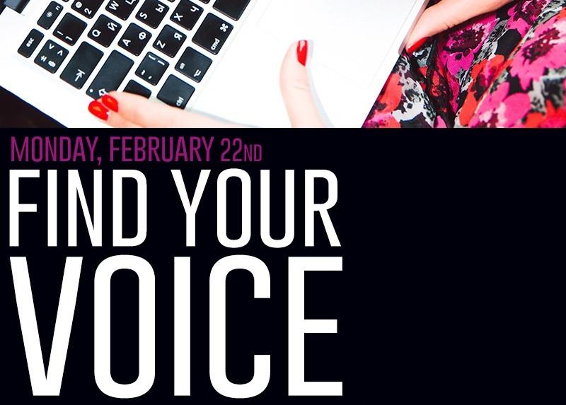"Marketing Workshop ""Find Your Voice"" On 2/22"