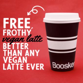 Vegan Latte Giveaway at 5 Booskerdoo Coffee shops