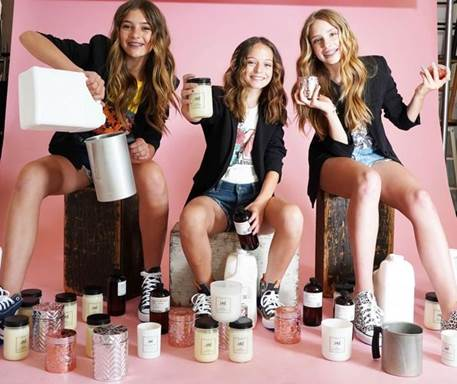 New Jersey Girls Start a Small Business Selling Candles