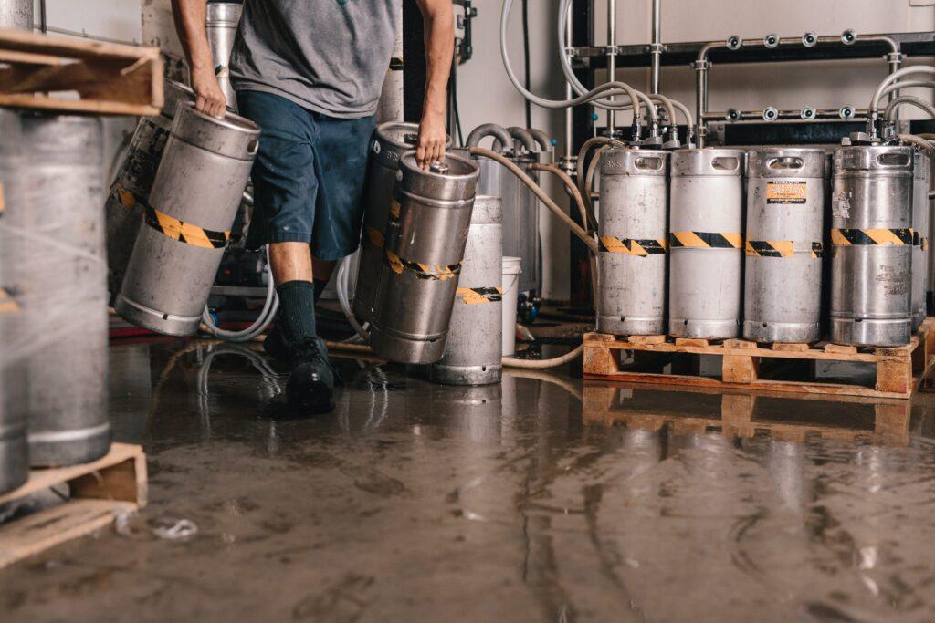 Beer kegs require CO2