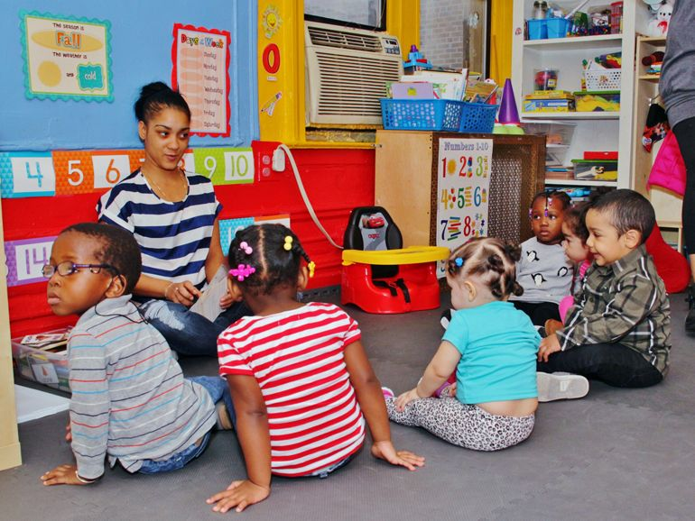 Children learn through the Home-Based Childcare Program