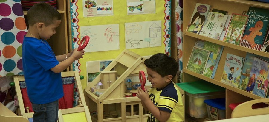 Children explore through learning in WHEDco's programs