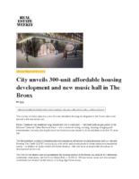 01-24-2017 REW_City unveils 300-unit affordable housing development and new music hall in The Bronx