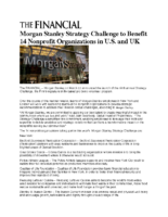 03-22-2017 The Financial_Morgan Stanley Strategy Challenge to Benefit 14 Nonprofit Organizations in US and UK