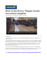 09-20-2017 News 12_Best of the Bronx Rapper hands out school supplies