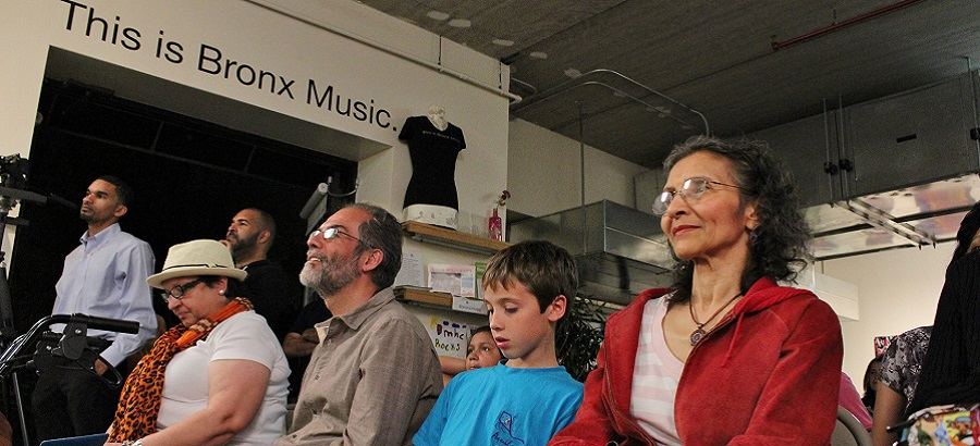 Audience at Bronx Music Heritage Center Lab