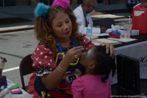 Face painting at Bronx Summer Fest 2016.