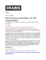 09-08-2017 Crains_Were housing advocates not left-wing activists