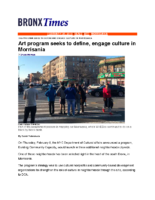 02-26-2018 Bronx Times_Art program seeks to define engage culture in Morrisania