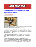 10-31-2018 New York Post_The Yankees backyard attracts home buyers on a budget