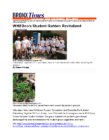 07-24-2017 BronxTimes_WHEDco Student Garden Revitalized