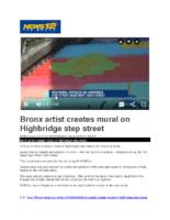 08-22-2019 News 12 Bronx_Bronx artist creates mural on Highbridge step street
