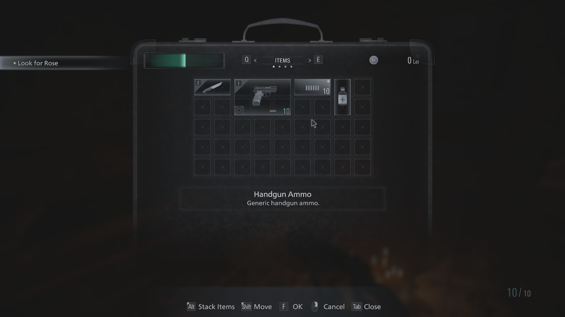 resident evil village inventory