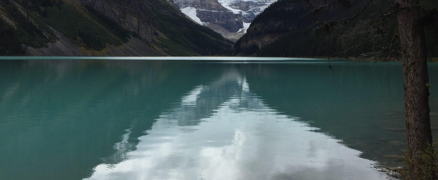 reflection in lake louise