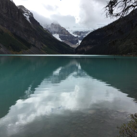 reflection in lake louise
