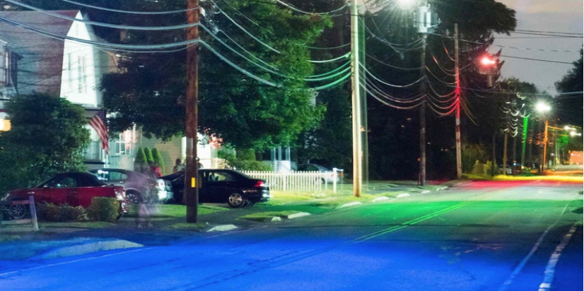 Chasing Color Streetlight Art by Dan Borelli
