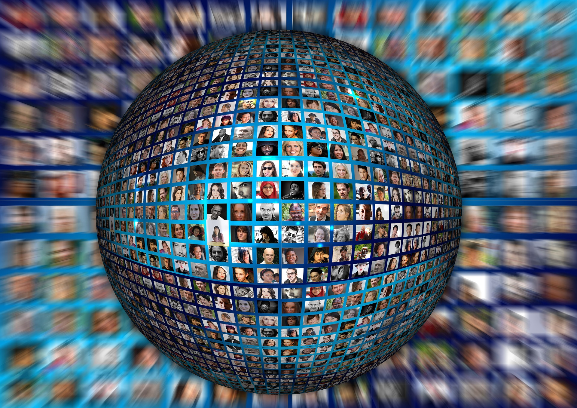 abstract image of the people of the world