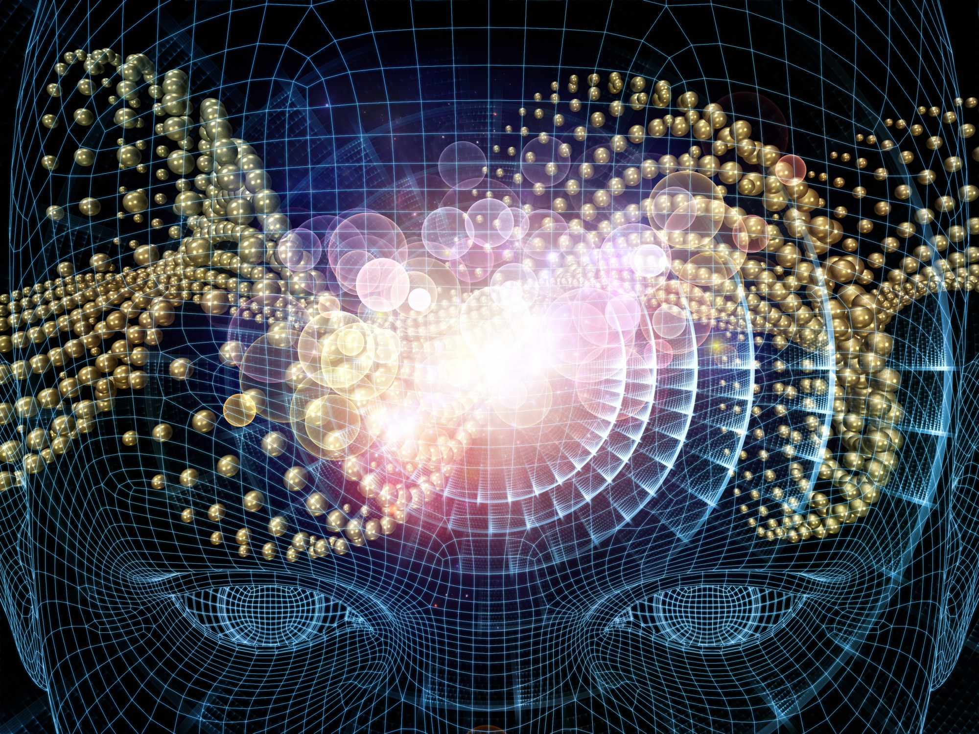 Abstract image of consciousness permeating the universe