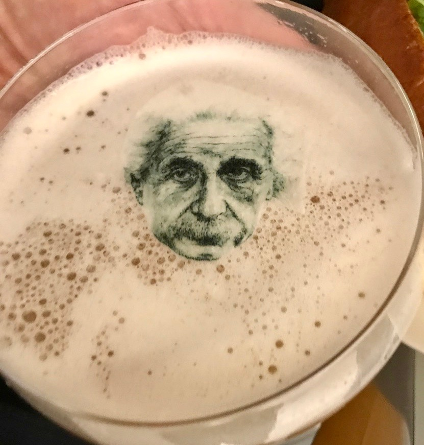 Café Art Science cocktail featuring Albert Einstein.