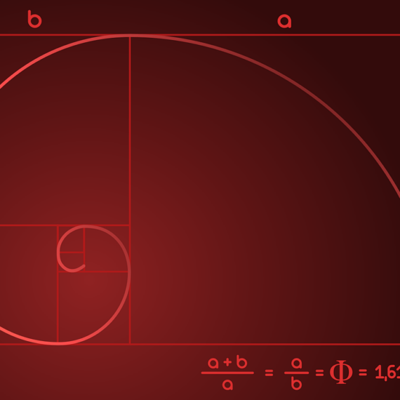 perfect spiral of the Fibonacci Series