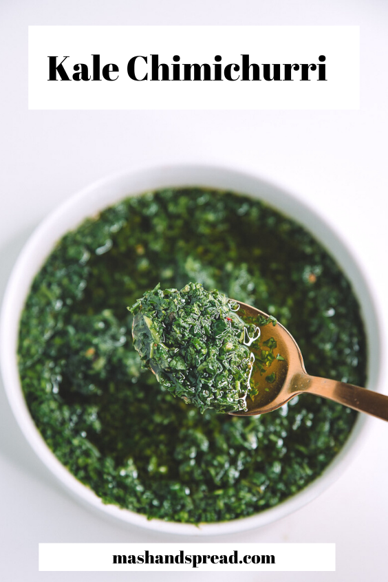 Kale Chimichurri Sauce made with Nature's Greens Kale.