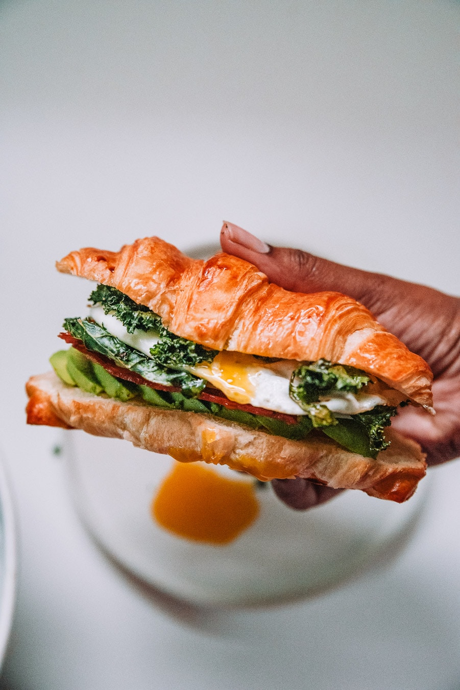 Breakfast Sandwich with Crispy Kale
