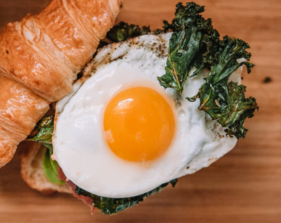 Breakfast Sandwich with Crispy Kale