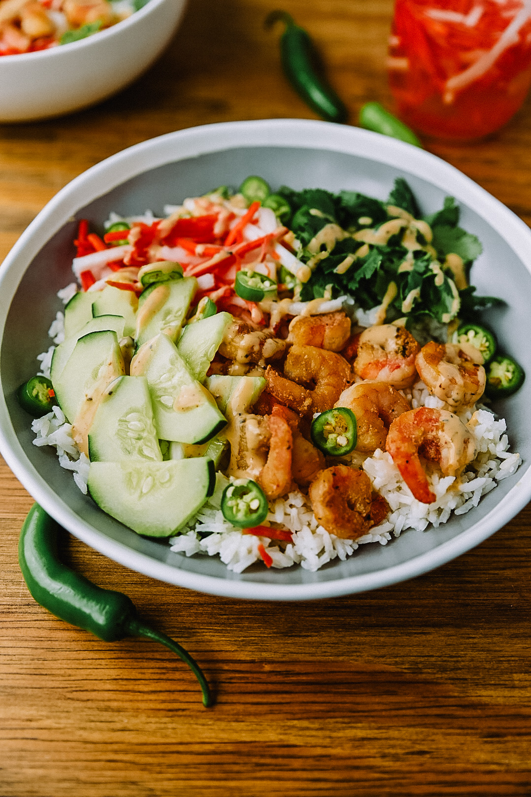 Shrimp Banh Mi Bowl made with Chipotle Ranch