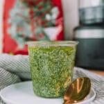 Kale and Basil Pesto in a jar