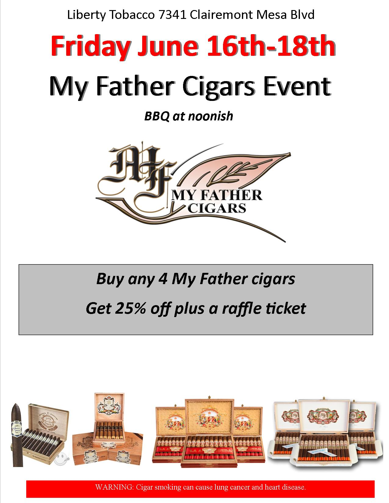 My Father Cigars Event at Liberty Tobacco