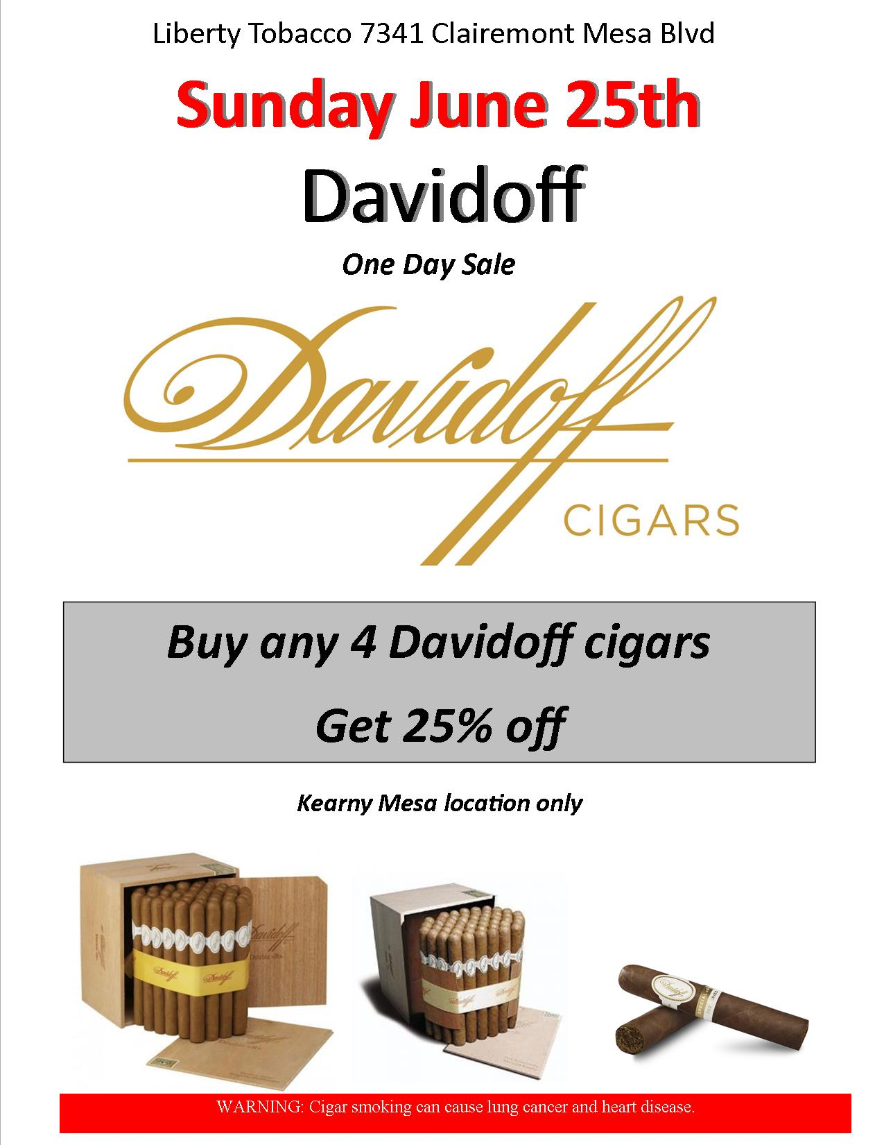 Davidoff One Day Sale at Kearny Mesa Location