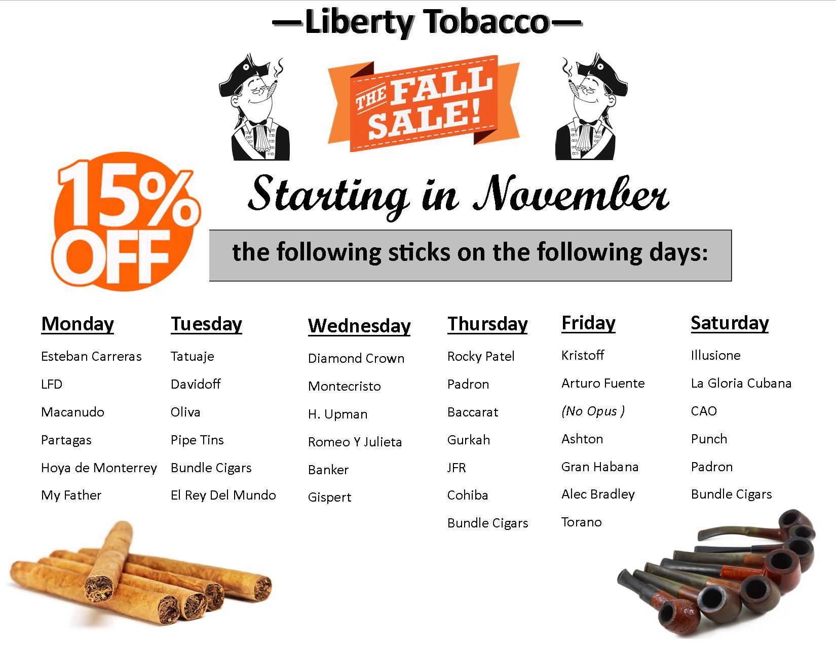November Sales Promotion at Liberty Tobacco