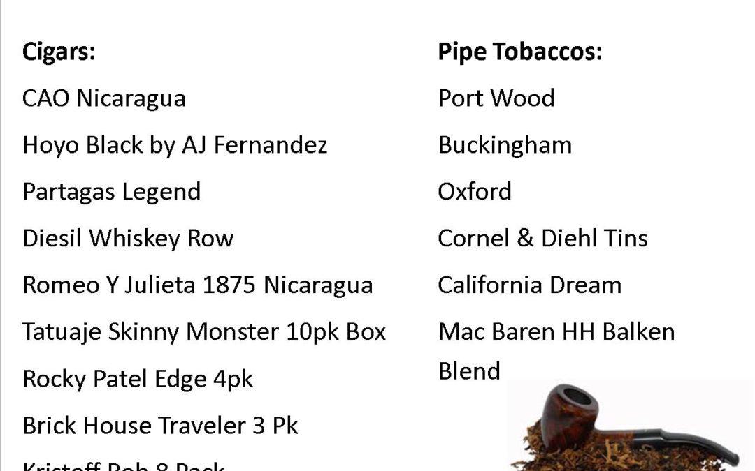 New at Liberty Tobacco