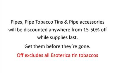 Liberty Tobacco Pipe Sale Happening now