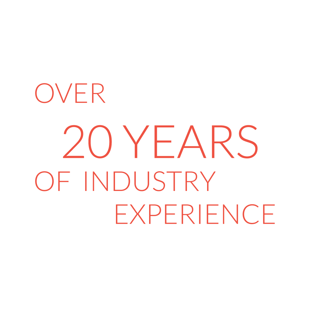 Over 20 years of industry experience