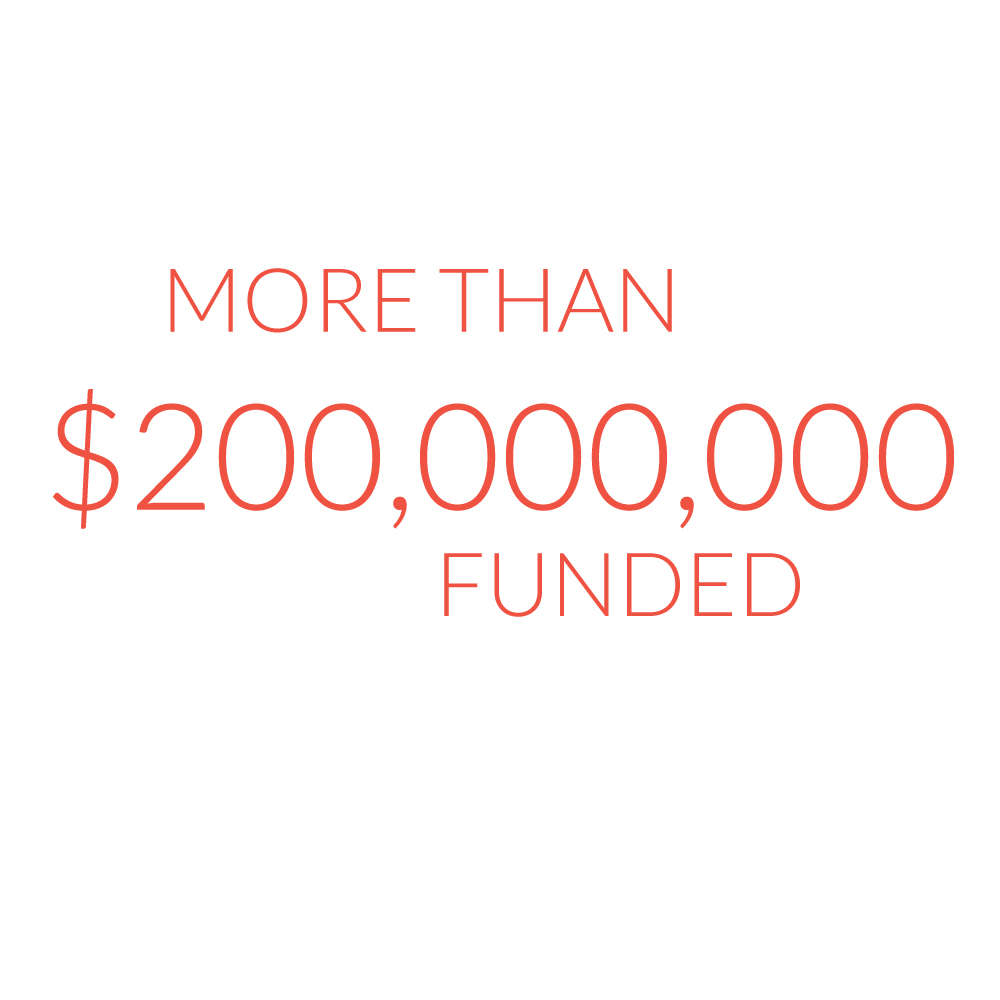 More than $200,000,000 funded