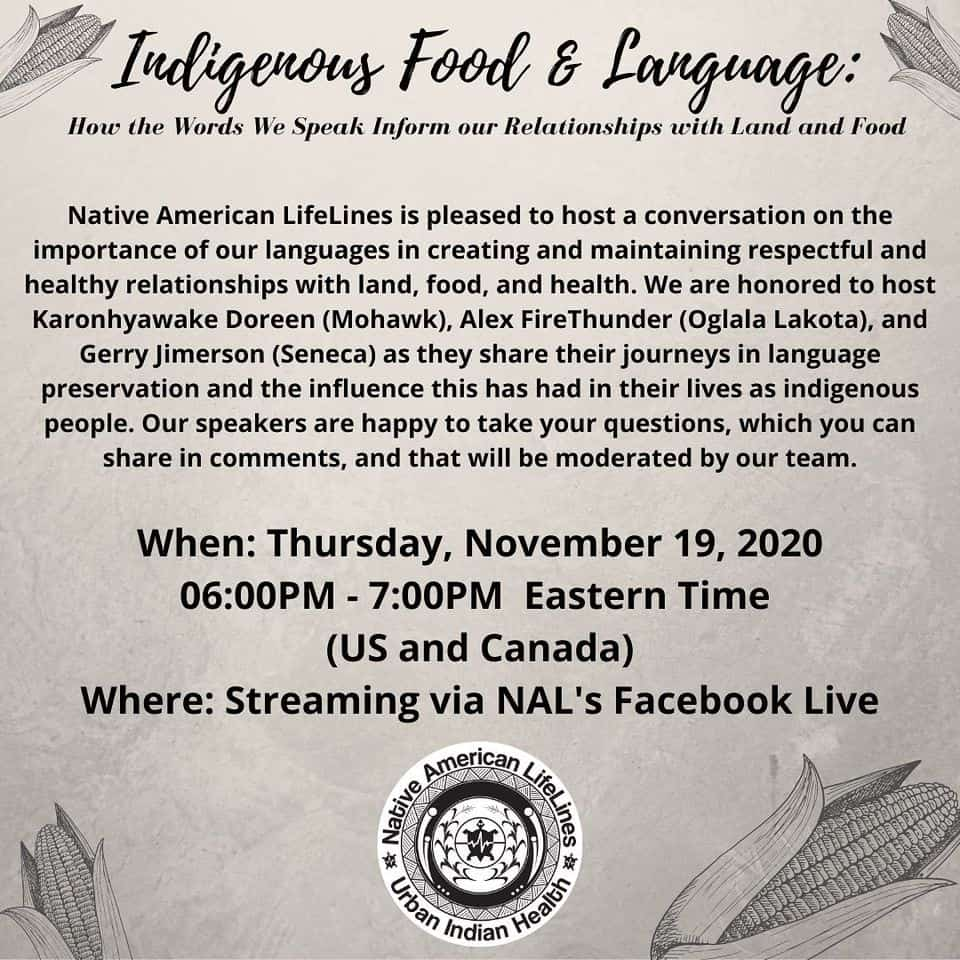 Indigenous Food and Language