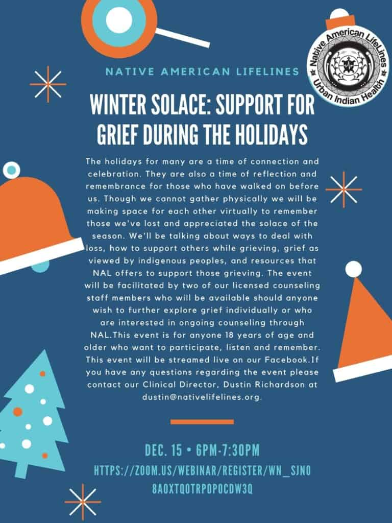 Support for Grief During the Holidays