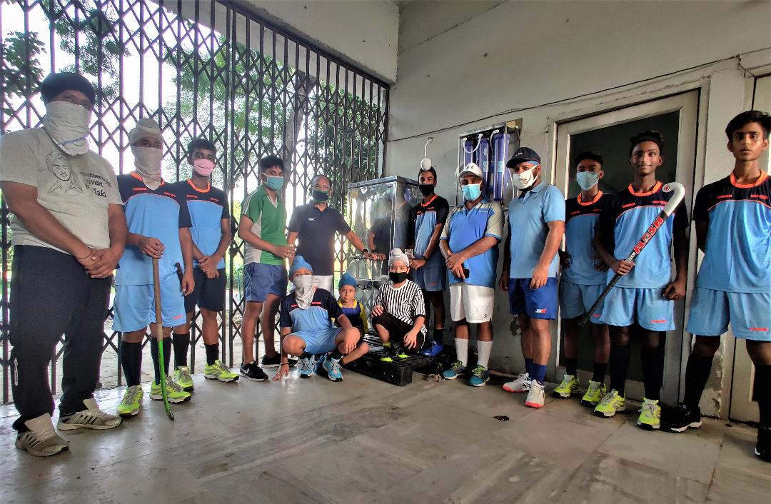 Two decades old potable water player's demand fulfilled:Surjit Hockey Society.