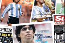 'God is dead': newspapers pay tribute to Argentina's legend Maradona