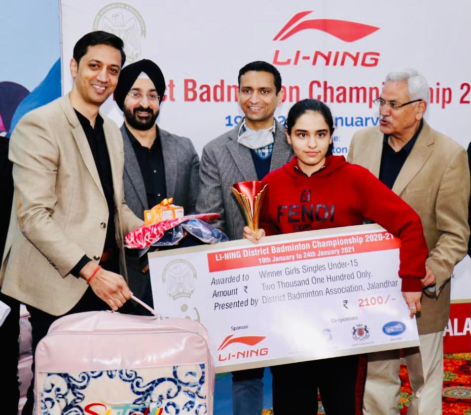 Distt Badminton Championships culmination with 32 Events