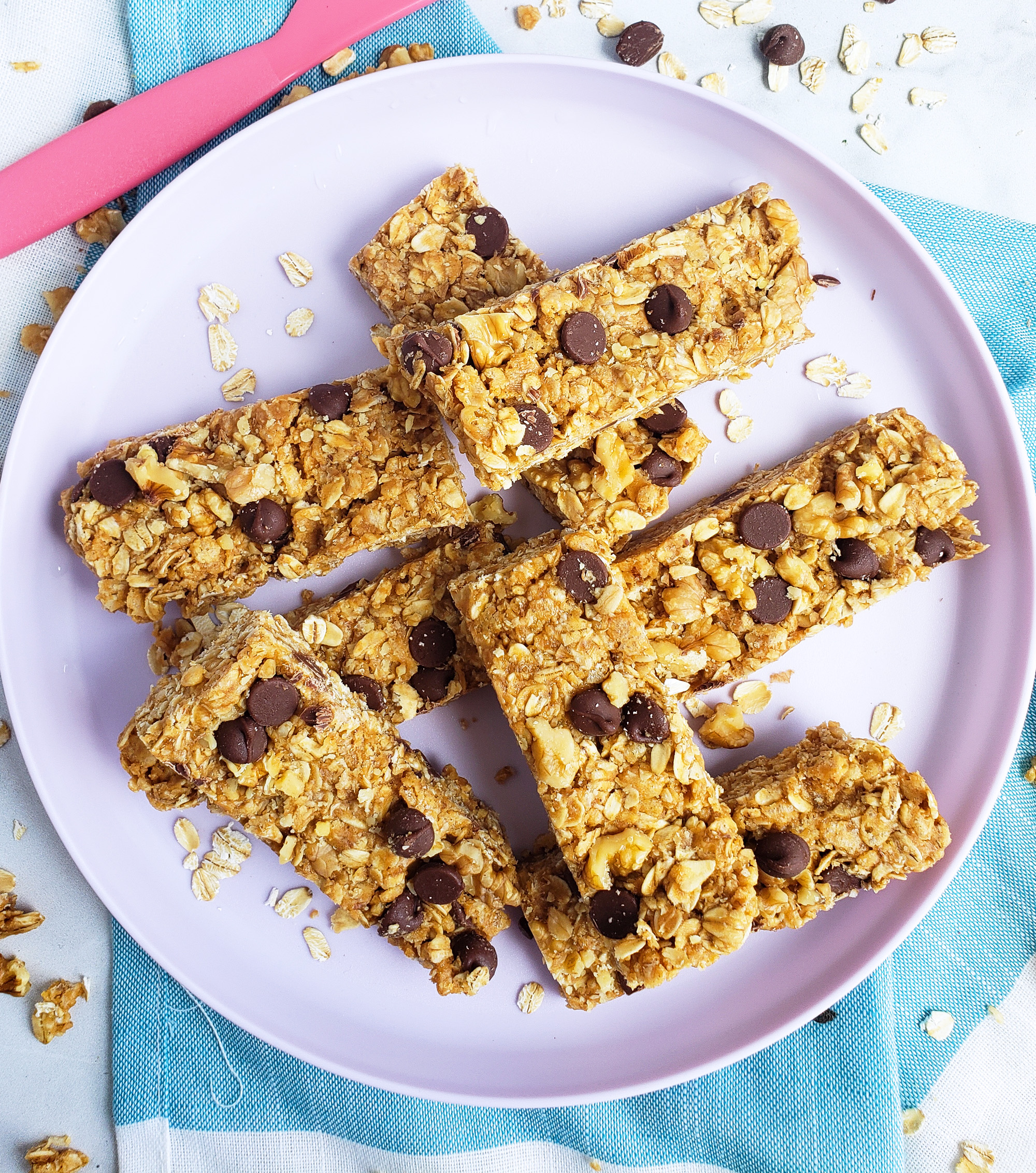 Chewy Nutty Crispy Rice Granola Bars