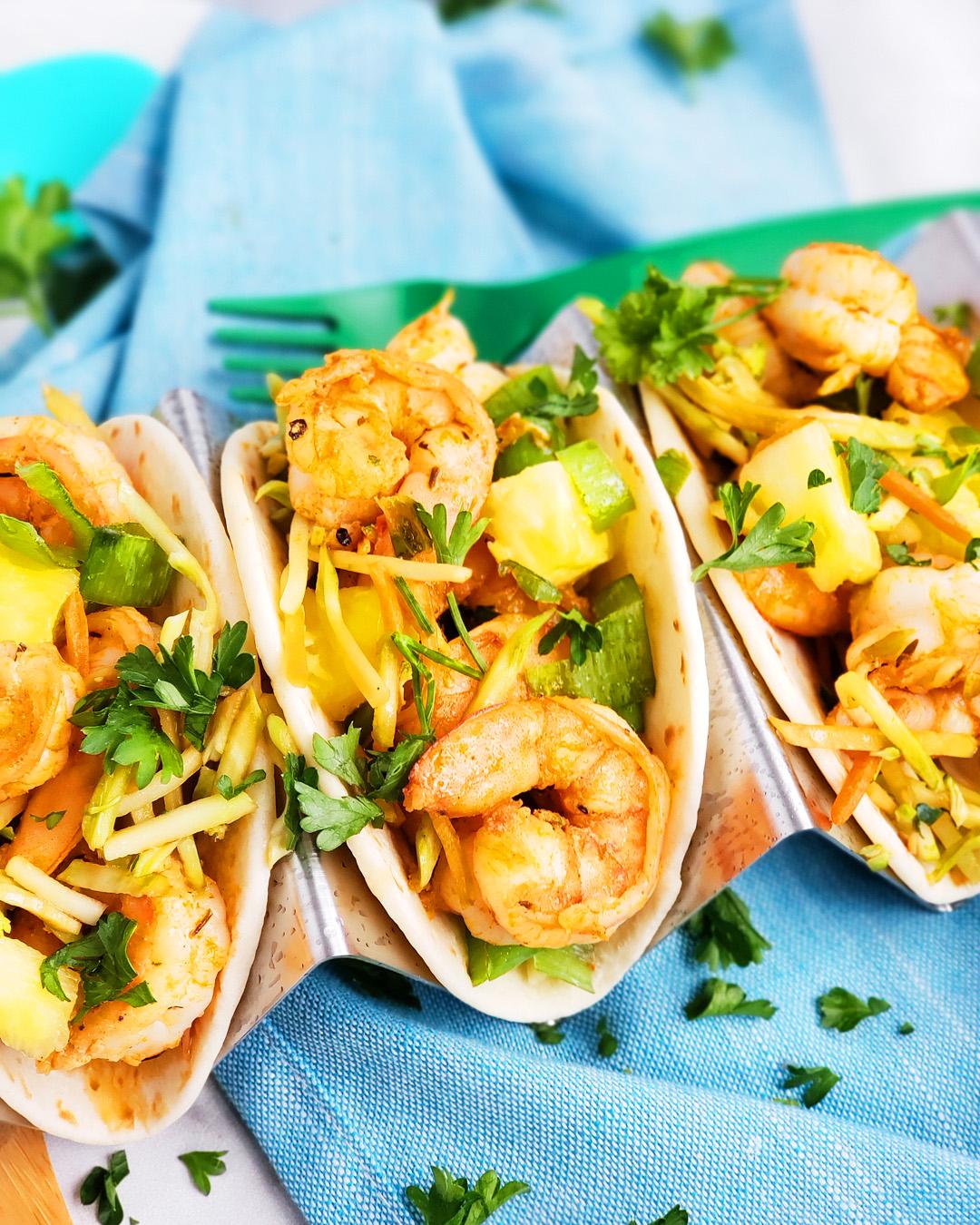Spicy Jerk Shrimp Mini Tacos