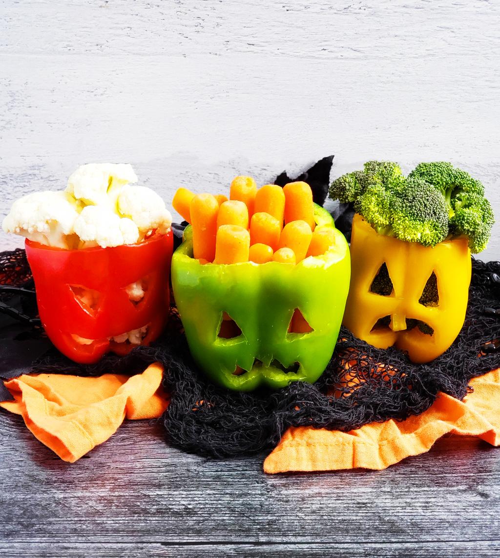 Spooky Halloween Jack-O-Lantern Bell Peppers