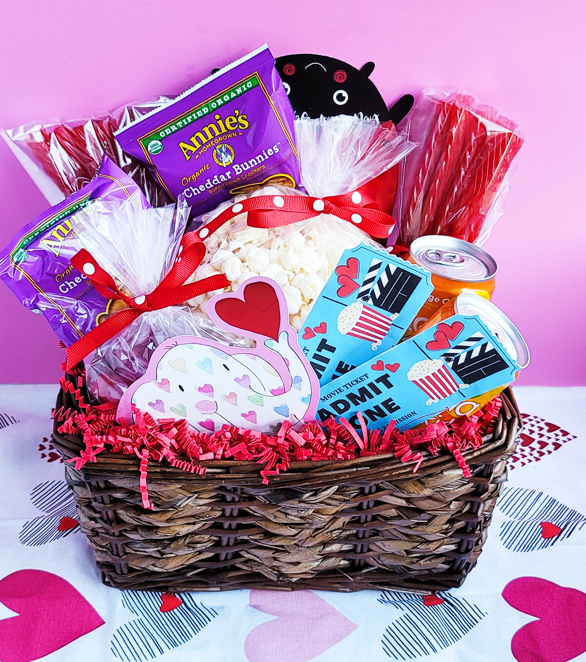Movie Themed Valentine's Day Basket + Free DIY Printable