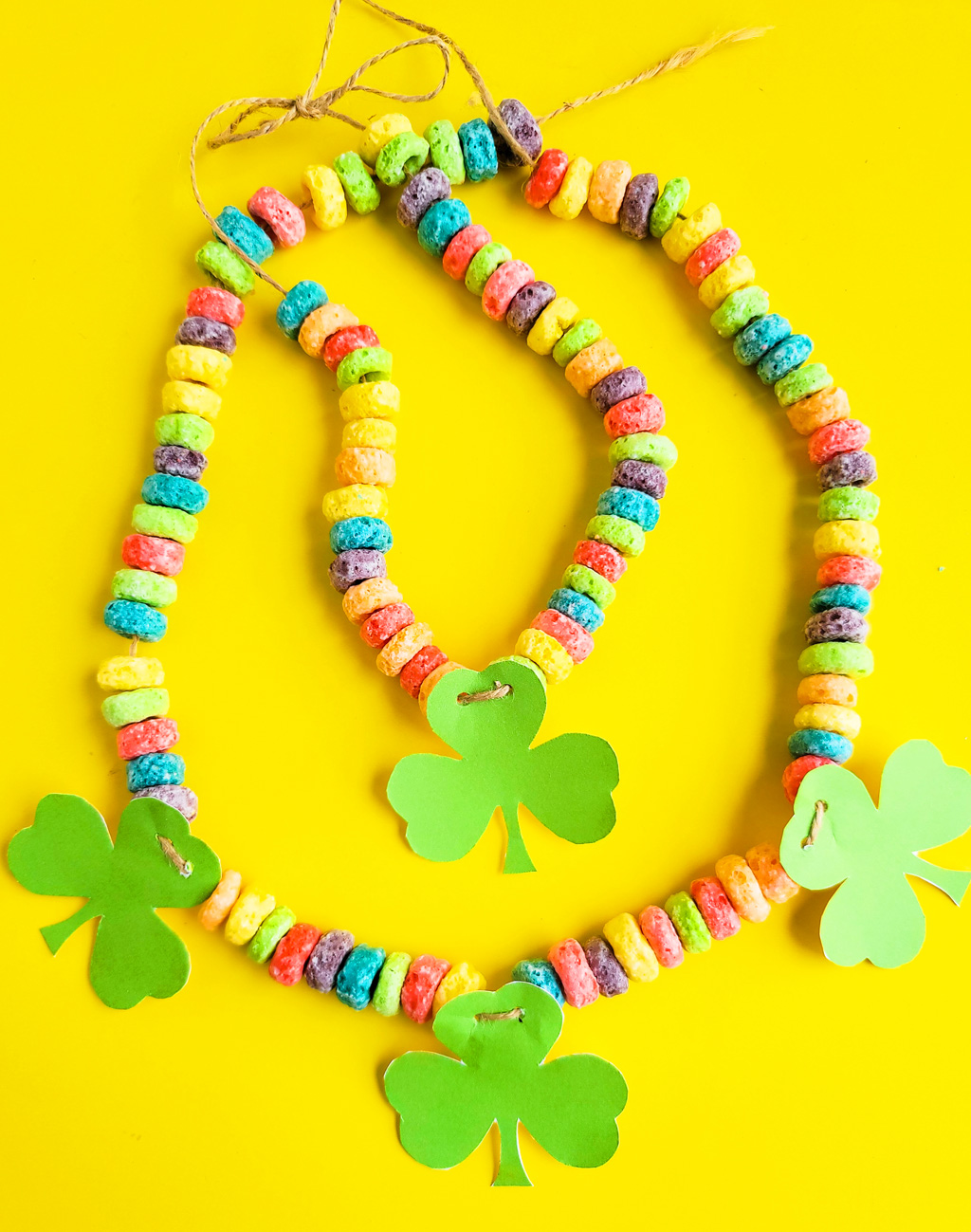 DIY St. Patrick's Day Shamrock Necklace